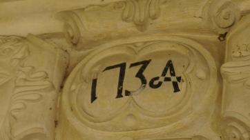 Detalhe da inscrição na Igreja de Comandaroba