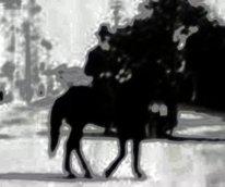 Representação artística do Cavaleiro da Rua das Flores